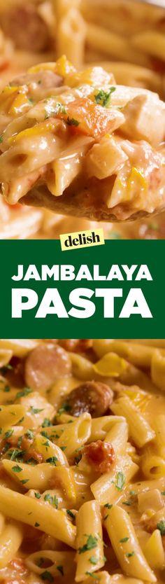 This Jambalaya Pasta Is A Must-Try For Cajun Food Lovers (Paleo Pasta Dinner) Cajun Recipes, Pasta Recipes, New Recipes, Cooking Recipes, Favorite Recipes, Cajun Food, Paleo Pasta, Recipies, Haitian Recipes