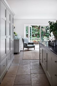 Kitchen Interior Kitchen Cupboards - Jamb director Henry Bickerton revived this Victorian town house in English country-house style - real homes on HOUSE by House Home Decor Kitchen, House, Kitchen Flooring, Kitchen Remodel, Kitchen Cupboards, Home Decor, Victorian Kitchen, Kitchen Style, Kitchen Design