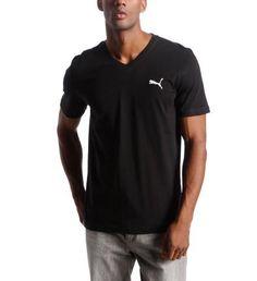 Men's Active V-Neck T-Shirt, black