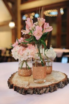 Rustic Wedding Centerpieces Unique to dazzling tips, rustic centerpieces post reference 8727376928 - Notable tips to form and design a crowd pleasing and charming setting. Delightful cheap rustic wedding centerpieces pinned on this date 20190107 , Tree Stump Centerpiece, Rose Gold Centerpiece, Mason Jar Centerpieces, Rustic Wedding Centerpieces, Centerpiece Ideas, Quince Centerpieces, Glitter Centerpieces, Inexpensive Centerpieces, Wooden Centerpieces