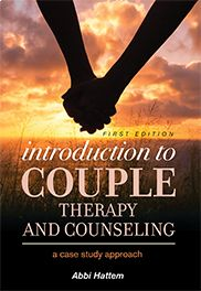 """Introduction to Couple Therapy and Counseling: A Case Study Approach""  Abbi Hattem    This text examines this complex topic from the perspective of a counselor working with a particular couple, with this work serving as a case study for the book. The book focuses on multicultural competence, sociocultural changes, and the evolution of concepts of counseling. It also addresses how to connect clients with other services that are available to them."