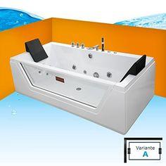 Whirlpool Badewanne Wanne Pool 2 Personen Heizung Luxus Led | Bad ... Varianten Der Whirlpool Badewanne