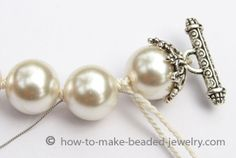 How to knot pearls or restring pearls http://www.ecrafty.com/c-595-glass-pearls.aspx #ecrafty www.eCrafty.com #glasspearls