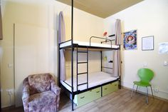 Little Quarter is located in Nerudova street, directly on the famous Royal Route, which winds through the heart of the historical centre of Prague. Dormitory, Hostel, Bunk Beds, Furniture, Home Decor, Interiors, Bedroom, Decoration Home, Dorm