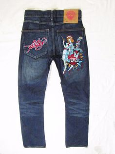 mens jeans Ed  Hardy  New  without tags  W30 L32 #EdHardy #ClassicStraightLeg