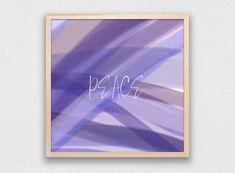 Peace Print Digital Download Minimalist Wall Art Modern | Etsy Purple Wall Decor, Purple Walls, Inspirational Wall Art, Vinyl Wall Art, Abstract Print, Printing Services, Printable Art, Contemporary Art, Etsy Seller