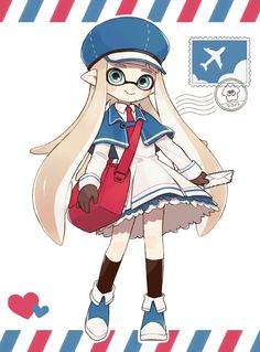 Splatoon Inkling Girl Travel Outfit