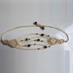Hey, I found this really awesome Etsy listing at https://www.etsy.com/listing/253292697/white-macrame-bracelet-white-thread