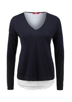 Pullover mit Blusen-Details von s.Oliver. Entdecken Sie jetzt topaktuelle Mode für Damen, Herren und Kinder online und bestellen Sie versandkostenfrei.