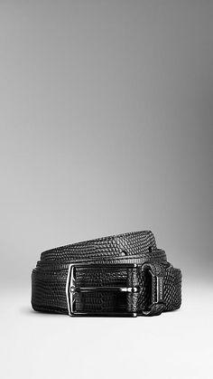 Textured Lizard Belt | Burberry