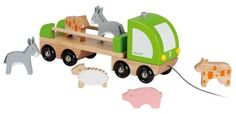 Janod Multi Animo Truck by Juratoys. Save 2 Off!. $29.26. Helps inspire creative, imaginative play in your little one. Pieces are constructed from all wood. Can be incorporated with other play sets. Great for ages 18 months and above. Designed in France by Janod. From the Manufacturer                Make way for Janod's Multi Animo Truck, on its way to your playroom to drop off a farm of your own. Designed in France, this great solid wood flat bed style truck is ready to take you...