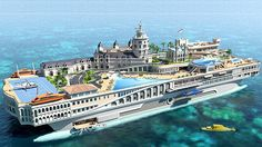 Streets of Monaco Yacht - dollars. This yacht will feature a go-kart track on deck inspired by the Monaco Grand Prix, as well as reproductions of the Hotel de Paris, La Rascasse and the Loews Hotel. Yacht Design, Super Yachts, Most Expensive Yacht, Expensive Homes, Go Kart Tracks, Yacht Boat, Island Design, Water Crafts, Grand Prix
