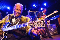 The thrill is on. B.B. King glows onstage during a performance on Dec. 3 in Solana Beach, Calif.