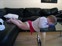 Couch to Table Planking, Stupid, Random Stuff, Lol, Couch, Babies, Humor, Home Decor, Random Things