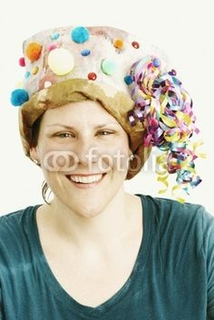 Paper Bag Hats for Women | Woman Wearing Paper Bag Party Hat by Fotolia XXIV, Royalty free stock ...
