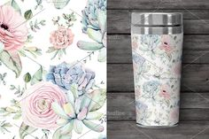 Oh my Succulents watercolor set - Illustrations - 4