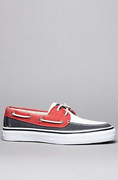 Sperry Topsider  The Bahama 2-Eye Boat Shoe in Red, White & Blue