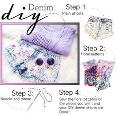 """DIY denim!"" by marina-vl on Polyvore"