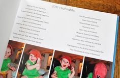 Family yearbook... cute idea by tamera