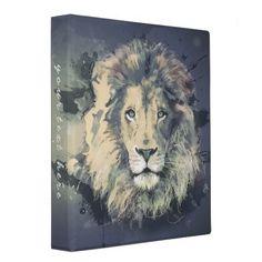COSMIC LION KING   Custom School Binder