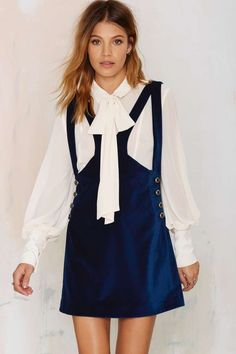 Nasty Gal Day Tripper Velvet Jumper Dress | Shop Clothes at Nasty Gal!