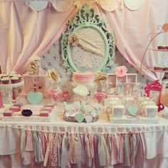 Shabby Chic Party Inspiration | CatchMyParty.com #ShabbyChic