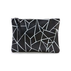 Clutch Leather Black White Glass, 70€, now featured on Fab.