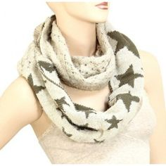 Infinity Round Scarf - Star Design (2 Colors)