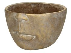 Produktinformationen Pflanztopf FACE gold XET-3639 Material:Sonstige Decoration, Decorative Bowls, Material, Google, Bowls, Plants, Flowers, Nice Asses, Decor
