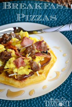 Build-Your-Own Breakfast Waffle Pizza Bar