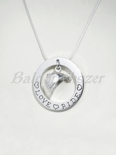 Silver necklace with riding cap by BaldorJewelry on Etsy Silver Horse, Chain Pendants, Washer Necklace, Cap, Sterling Silver, Jewelry, Baseball Hat, Jewlery, Jewels