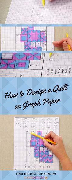 Our video tutorial teaches you with steps, tips, and more information so that you can design your own quilt.