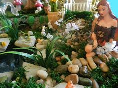 My newest Fairy Garden made from recycled materials. This isn't an Etsy sale. It's my personal garden.
