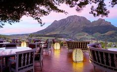 Delaire Graffs Estate bar and restaurant - south africa, with views of the Simonsberg and 20 minutes from La Clé des Montagnes in Franschhoek