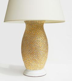 gold mosaic lamp by Sue Fisher King