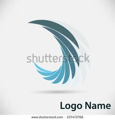 Vector Logo Design Template . Abstract Colorful Wing Icon. Vector illustration.