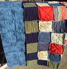 Rag quilt created by Feather & Nest