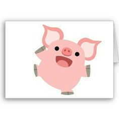 4e3bb4cb4 Joyous Cartoon Pig T-Shirt Greeting Cards