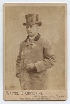 Boston Mass Black Man in Top Hat