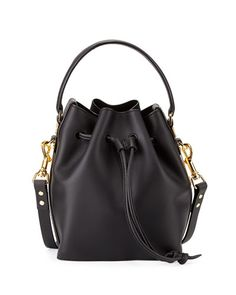 V2DDZ Sophie Hulme Fleetwood Small Bucket Bag, Black