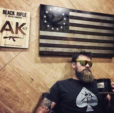 "Black Rifle Coffee Company on Instagram: ""What's your favorite part of America?? 🇺🇸🇺🇸🇺🇸🇺🇸🇺🇸 @blackriflecoffee_logan @ironmountaindesigns #blackriflecoffee #coffeetime #gunsandcoffee…"" Black Rifle Coffee Company, Coffee Time, Logan, America, Mens Tops, Instagram, Coffee Break, Usa"