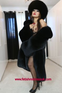 Huge Shinny Ultra Soft Black Fox Fur's and Long Silky Soft Hair... www.fetishmistressuk.com