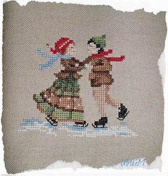 Ulrike M . Cross Stitch Borders, Cross Stitch Rose, Cross Stitching, Cross Stitch Patterns, Hand Embroidery Projects, Learn Embroidery, Cross Stitch Embroidery, Christmas Sewing, Christmas Embroidery