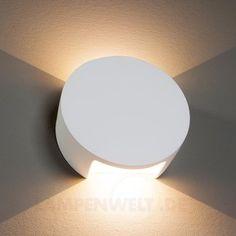 Meena - LED-Wandleuchte aus Gips, überstreichbar 9613015