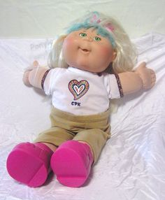 """Cabbage Patch Kids 17"""" Doll With Original CPK Outfit 2004"""