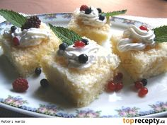 Mokrá kokosová buchta Pudding, Brownies, Cake Brownies, Puddings