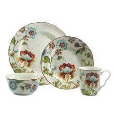 222 Fifth Bella Vista 16 Piece Dinnerware Set