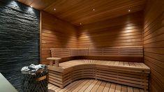 Saunan tunnelmalliseen valaistukseen riittää epäsuora, puun pinnasta heijastuva valaistus.