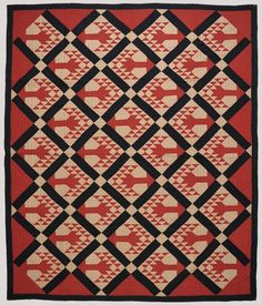 Antique Tree of Life quilt, 94 x 76 in., Dir Soulis Auctions, Live Auctioneers