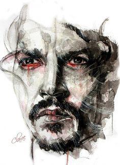 man red eyes